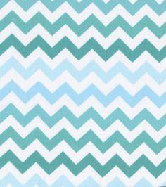 Perfect for Living Room Pillows ... Keepsake Calico Fabric-Blue Ombre Chevron, Joann Fabrics