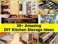 27 Small Kitchen organization and Diy Storage Ideas - Home Decor Ideas Clever Kitchen Storage, Small Kitchen Organization, Diy Storage Projects, Diy Projects, Storage Ideas, Organization Ideas, Project Ideas, Storage Solutions, Dvd Storage
