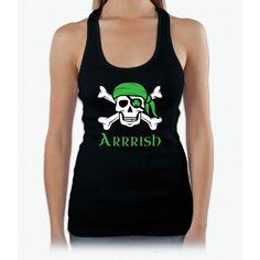 Irish Pirate Womens Tank Top