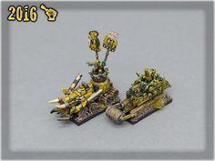 Ork Clans Bad Moonz Battle Wagons 1 Warhammer 40k, Goblin, Minis, Tabletop, Battle, Miniatures, Models, Gallery, Fun