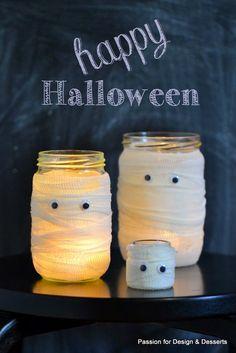 Halloween / Mummy jars / Candle jars