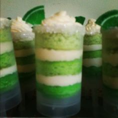 Ombre Margarita cake push up pop made using browneyedbaker's awesome recipe http://www.browneyedbaker.com/2011/05/05/margarita-cupcakes-cinco-de-mayo/