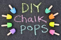 DIY Sidewalk Chalk Pops