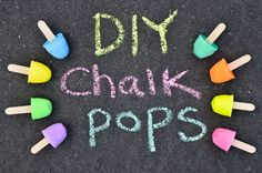 DIY Sidewalk Chalk Pops - easy to make and perfect for the summer fun!