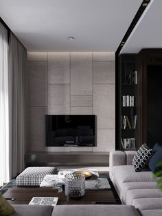 """DARK APARTMENT FOR LIGHT PAIR. 56 square meters in LCD premium class """"Egodom"""" Moscow. Customer: """"Egodom"""".The project of redevelopment and interior of the pilot apartments Style: Aesthetics. Premises: Combined living room, dining area and kitchen. W…"""