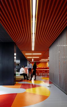 ANZ Centre Melbourne EGD by Fabio Ongarato Design: wayfinding/signage Red Office, Cool Office, Office Decor, Office Ideas, Office Furniture, Furniture Ideas, Orange Office, Bureau Design, Corporate Interiors