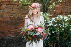Oversized Peony Bouquet - Irnham Hall Wedding Venue | Bohemian Bridal…