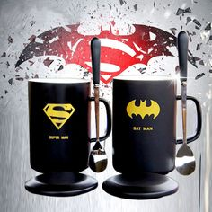 2017 Real Taza Cup Caneca Mugs Avenger Heroes Ceramic Coffee Superman Batman Captain America Iron Man Set Porcelain Travel Mug  #Affiliate