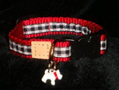 Plaids just for puppies to grow into too! Plaid Dog Collars, Bangles, Bracelets, Puppies, Belt, Accessories, Jewelry, Fashion, Belts
