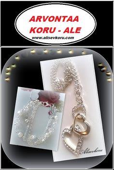 Alisev - koru: Upean korusetin arvonta ja koru - ale Heart Charm, Ale, Diamond Earrings, Swarovski, Bracelets, Jewelry, Jewlery, Bijoux, Schmuck