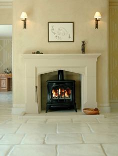 Rudloe - cast stone fireplace - The Hazelberry Manor. Love this fireplace! Lounge Decor, House Design, Updating House, Home, Fireplace Surrounds, New Homes, Cast Stone Fireplace, Cottage Living Rooms, Fireplace