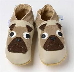Daisy Roots - Pug Dogs on Beige – soft soled leather baby bootie shoes Dog Booties, Pug Pictures, Cute Pugs, Pug Love, Childrens Shoes, Gifts For Kids, Fur Babies, Baby Shoes, Booty