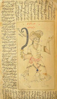 'Book of Fixed Stars' (Kitāb suwar al-kawākib al-ṯābita) by 'Abd al-Rahman ibn 'Umar al-Ṣūfī,Period/Dynasty:Safavid - `Abbas II (r.1642-1666) , 1650. Aga Khan Museum (Genève, SWITZERLAND), AKM00266.