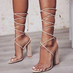 1b56fb7d2ea9 Gladiator Strings High Heels Sandals. Shoes SandalsWomen s FlatsStrappy ShoesWomen s  PumpsSandal HeelsStrap ...