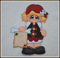 Pirate Girl Paper piecing for Scrapbook Pages, Layout, Album CraftECafe