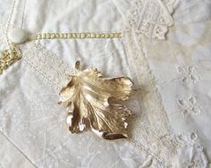 Vintage Gold Vermeil on Sterling Silver Floral by CynthiasAttic