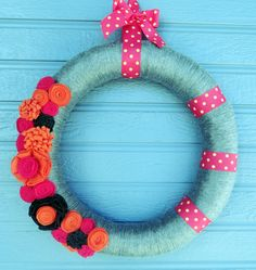 Fun Spring Yarn Wreath