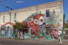 STREET ART - MONKEY'S -  (Straatkunst)