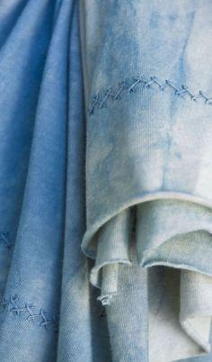 alabama chanin shawl | Alabama Denim Shawl | Alabama Chanin