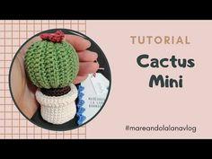 Crochet Patterns Amigurumi, Crochet Stitches, Knit Crochet, Mini Cactus, Cactus Art, Crochet Cactus, Crochet Flowers, Crop Top Pattern, Crochet Crop Top