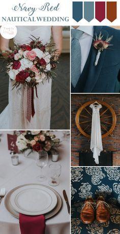 Navy Red Nautical Wedding Inspiration