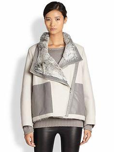 Helmut Lang - Reversible Void Felt & Fur Coat - Saks.com