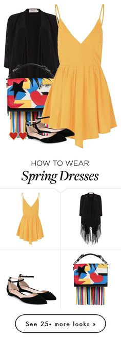 """LITTLE SPRING TOUCH"" by ele88na on Polyvore featuring Soaked in Luxury, MSGM, Glamorous, Gianvito Rossi, women's clothing, women, female, woman, misses and juniors"