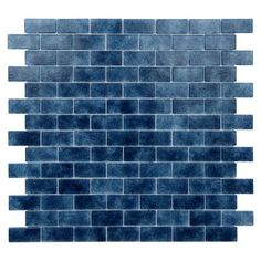 "Quartz 0.75"" x 1.63"" Glass Mosaic Tile in Dark Blue | Wayfair"