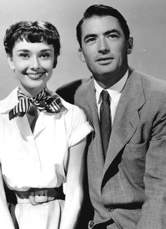 Audrey Hepburn & Gregory Peck in Roman Holiday....gorgeous pair