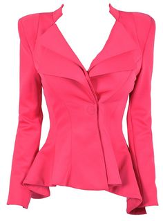 'Lucy' Fuschia Pink Tailored Blazer