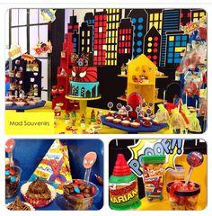 Mesa de dulces Spiderman