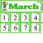 Free March Calendar Set includes month and number cards...