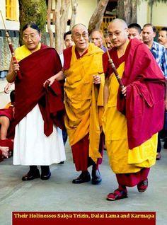 Three Jewels of Tibet, HH. Sakya Trizin Rimpoche, HH the Dalai Lama & HH the Karmapa !