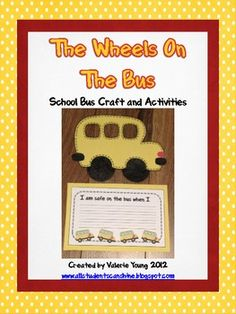 What a perfect way to start the school year! Let's teach our students about bus safety with this writing prompt craftivity!  $