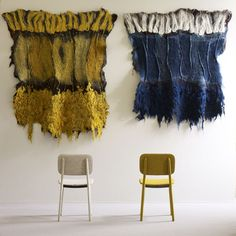 Claudy Jongstra -- felt wall hangings, made of hand-dyed wool from her own flock.