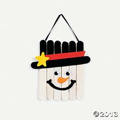 Wooden snowman craft using craft sticks... Yes but I'm thinking with yard sticks and making it lawn decor!