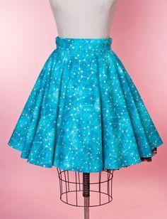 MB Circle Skirt - Teal Constellations