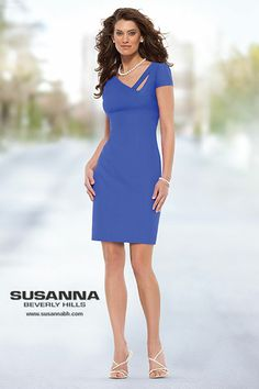 Beverly Hills dresses available in blue for spring 2014. This elegant dress can be worn day or night. Designed by Susanna Beverly Hills www.susannabh.com