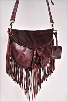 Boho style fringe leather crossbody - Gypsy Soul