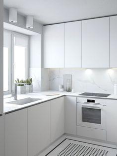 Nice 76 Simple and Minimalist Small White Kitchen Ideas https://bellezaroom.com/2017/12/20/76-simple-minimalist-small-white-kitchen-ideas/