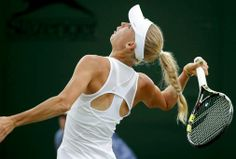 6/25/14 .. #16-Seed Caroline Wozniacki def. home fave Naomi Broady 6-3, 6-2 in the 2nd rd of The Championships, Wimbledon.