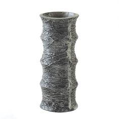 Variegate Silver Round Vase
