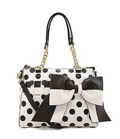 Betsey Johnson Gift Me Baby Polka Dot Convertible Satchel #Dillards