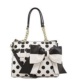 Betsey Johnson Gift Me Baby Polka Dot Convertible Satchel #Dillards