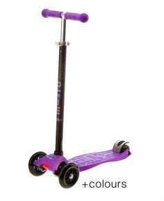 The Maxi Micro kick scooter is built for kids 5 years and over. With a stronger, wider deck and adjustable handlebar height, the Maxi Micro kids scooter is great for kids growing up. Find the Maxi Micro kids scooter in various colours for sale from micro®