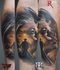 color tattoo , realistic tattoo