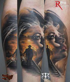 color tattoo , realistic tattoo