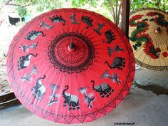 Hand painted umbrella in Chiang Mai, Thailand