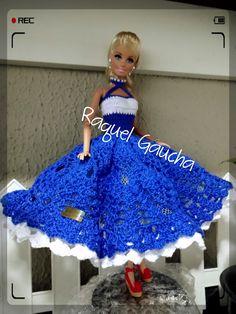#Cléa5  #Crochet #Barbie  #Doll #Muñeca #Vestido  #Dress RaquelGaucha