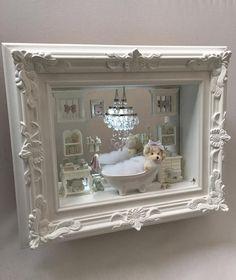 1 million+ Stunning Free Images to Use Anywhere Vitrine Miniature, Miniature Rooms, Miniature Crafts, Miniature Houses, Miniature Kitchen, Box Frame Art, Box Frames, Doll House Crafts, Shadow Box Art